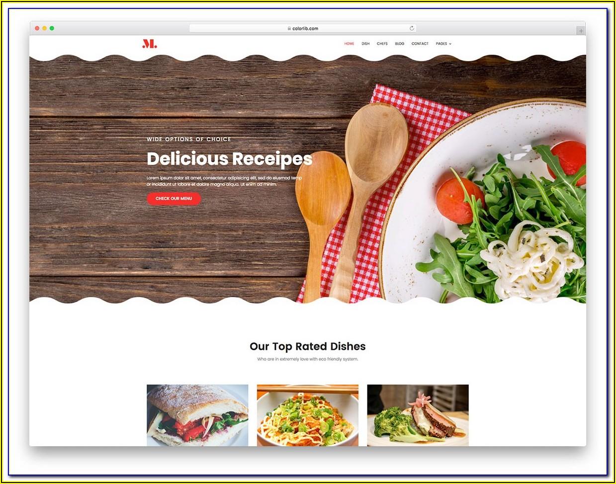 Restaurant Website Templates Free Download Bootstrap