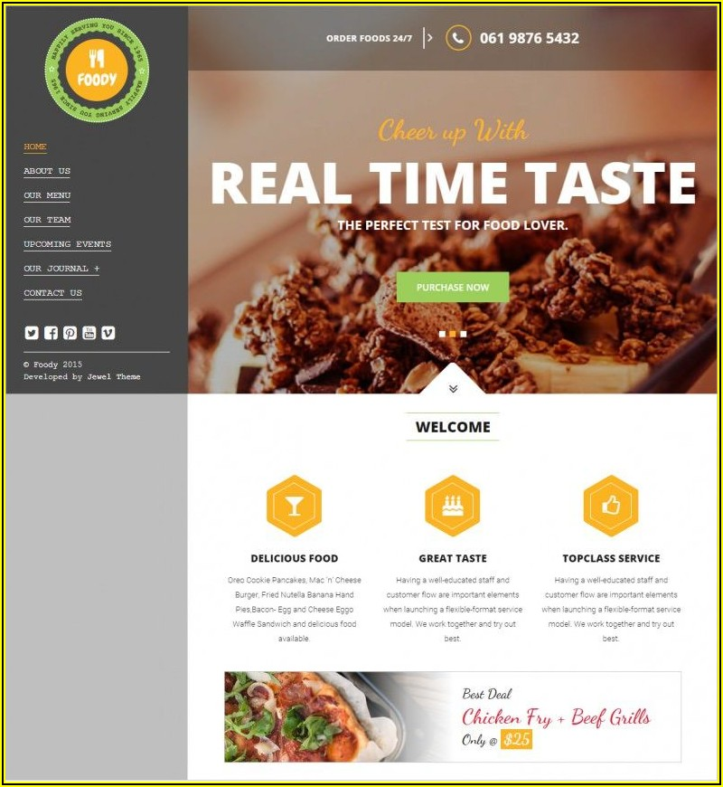 Restaurant Website Templates Free Download Html5