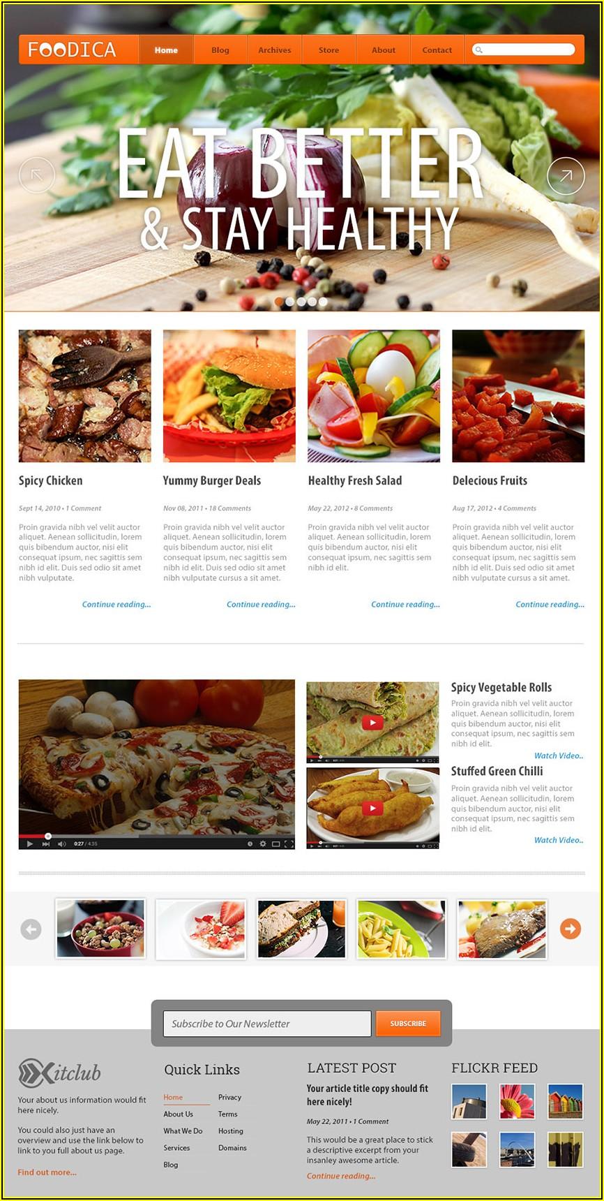 Restaurant Website Templates Free Download