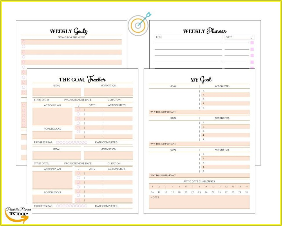 Sales Goal Planner Template