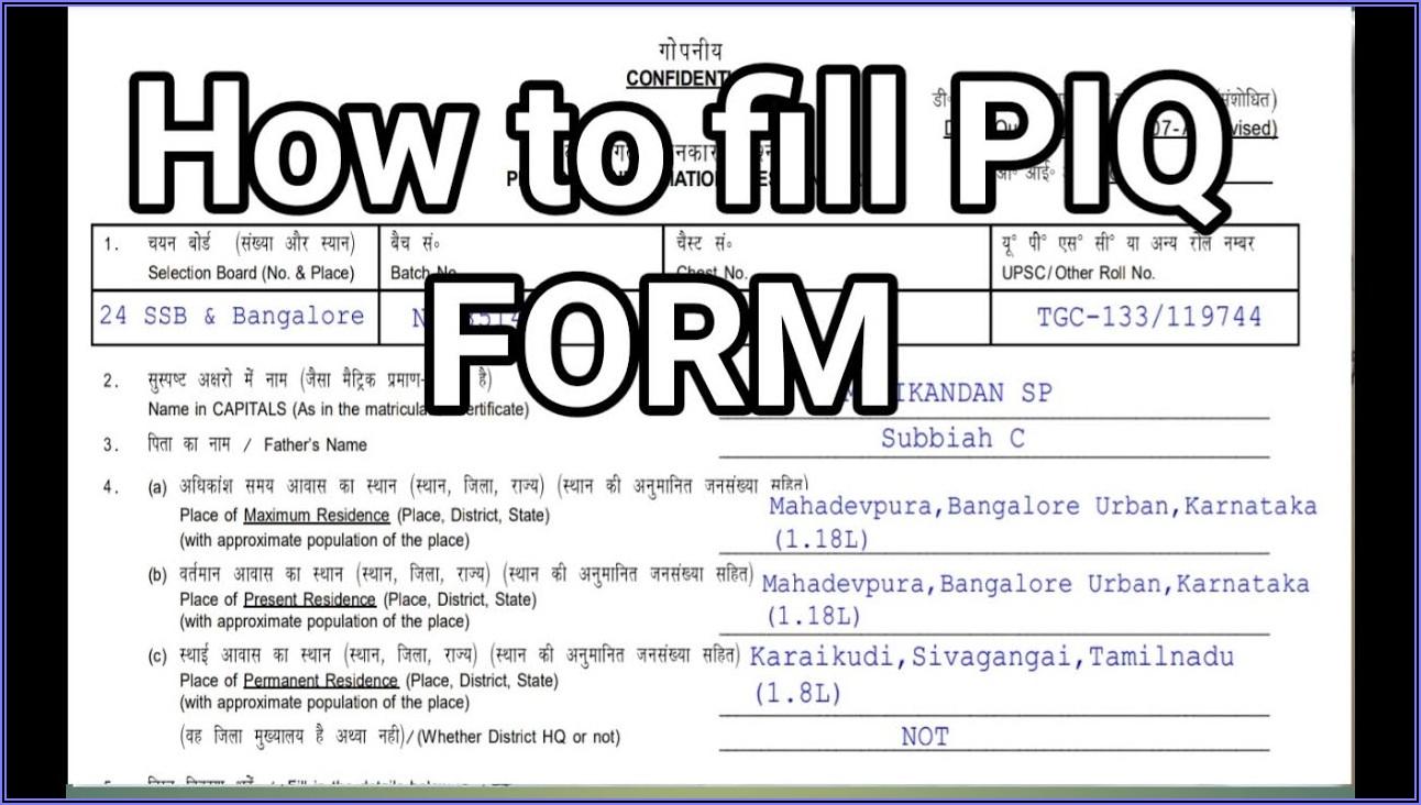 Sample Filled Nda Form