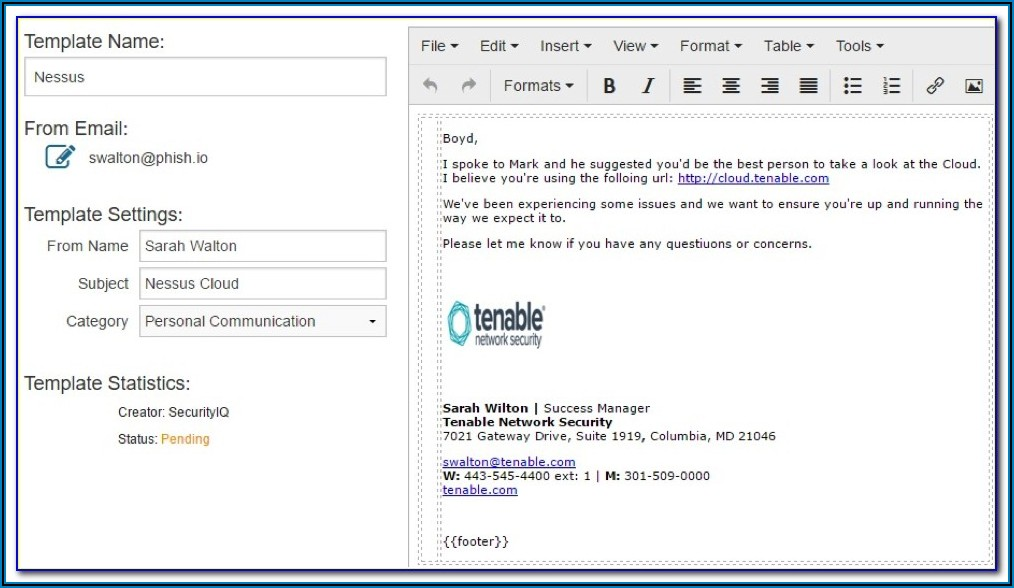 Sample Phishing Email Templates
