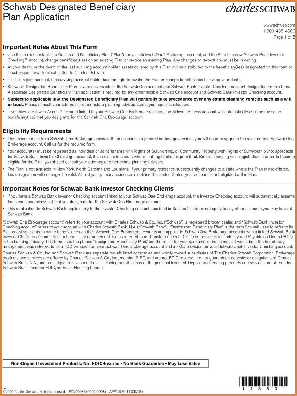 Schwab Roth Ira Application Form