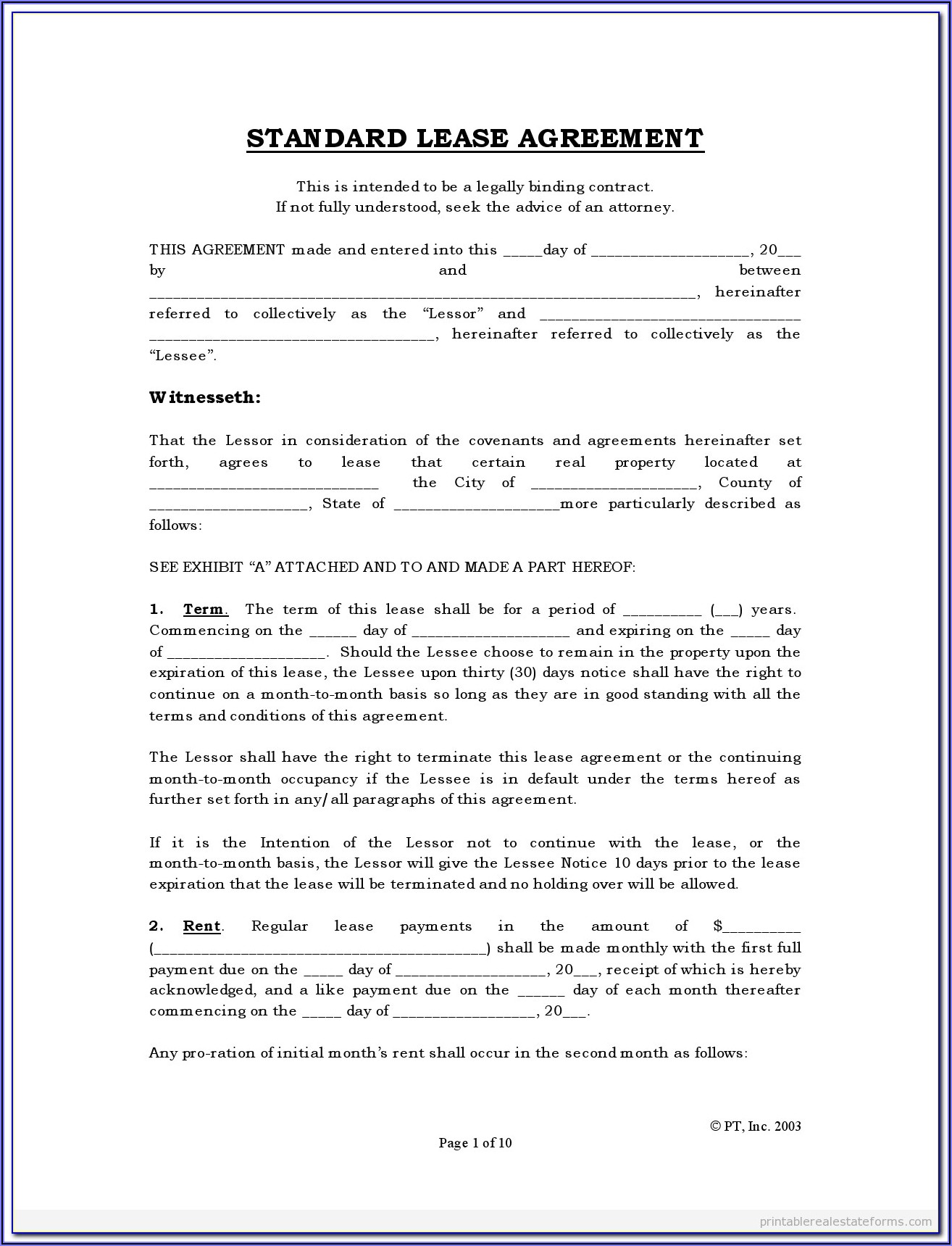 Simple Equipment Rental Agreement Template Pdf