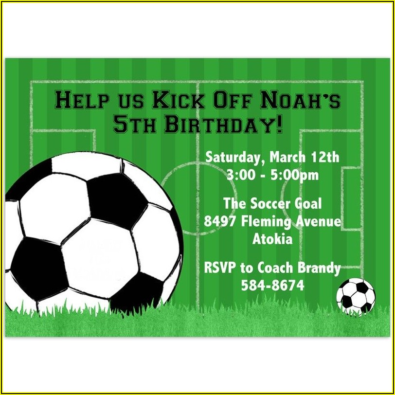 Soccer Birthday Invitation Template