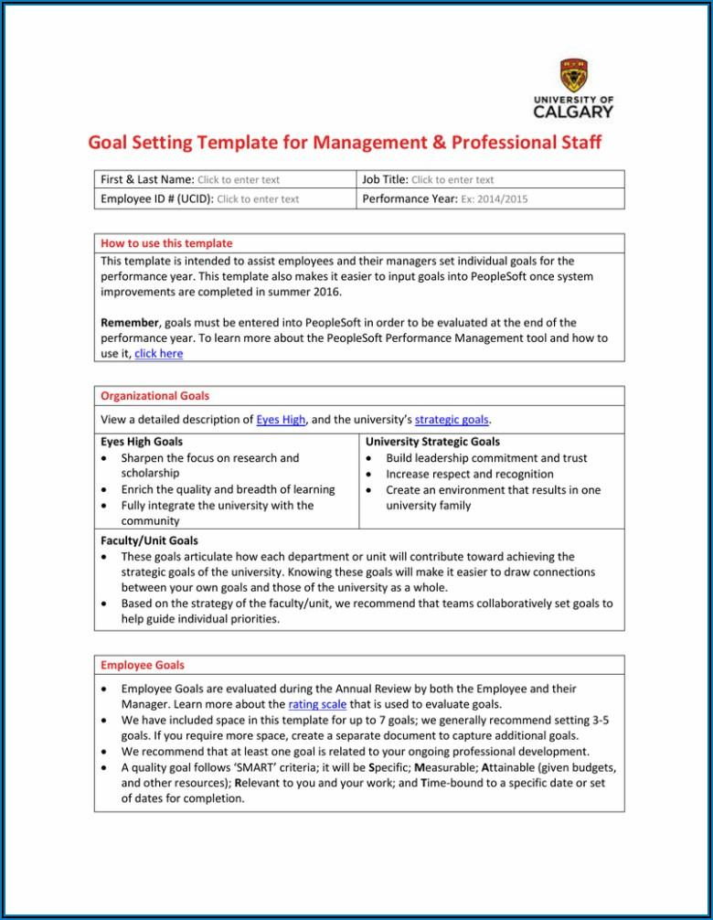 Staff Goal Setting Template