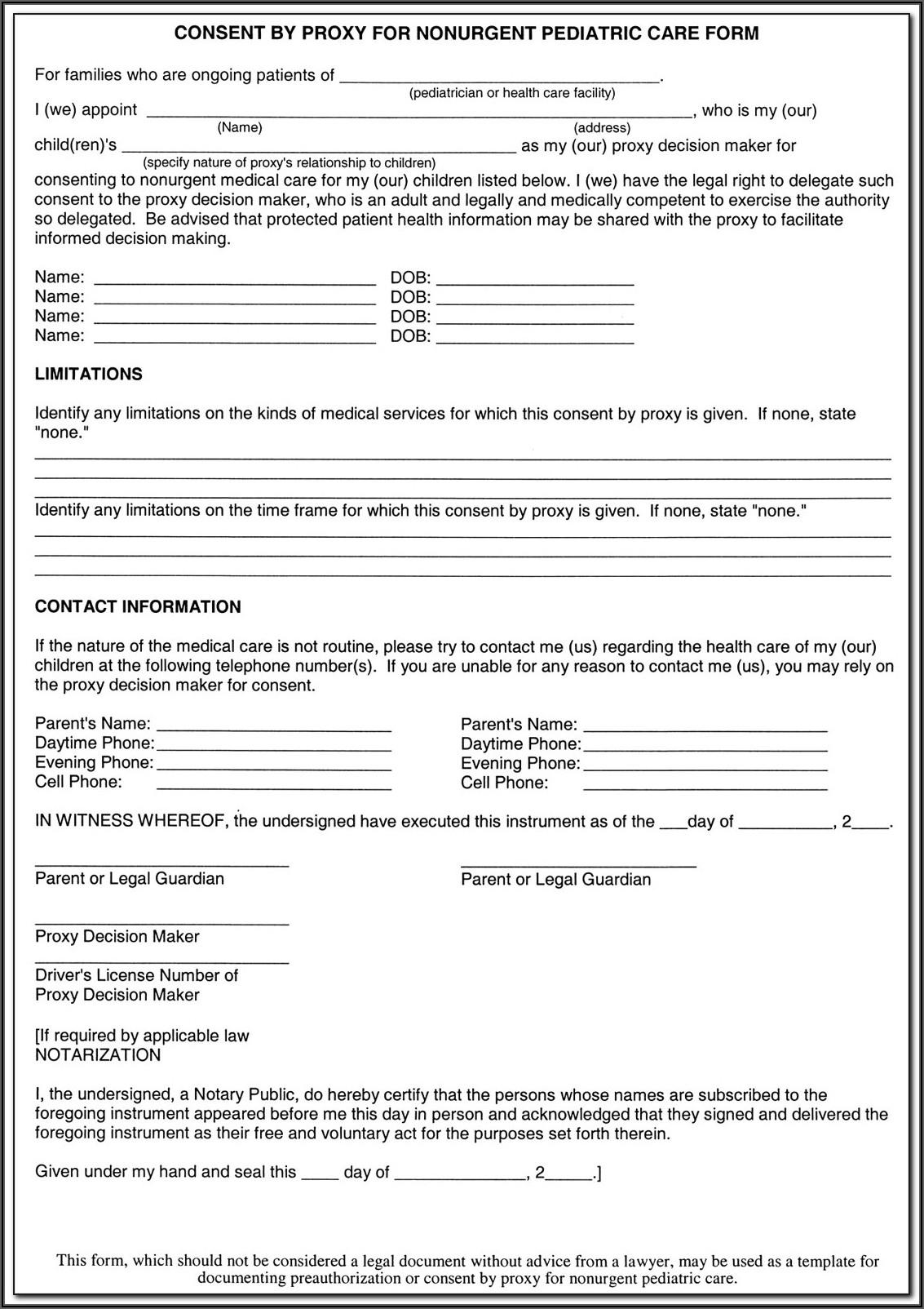Surrogate Decision Maker Form Illinois