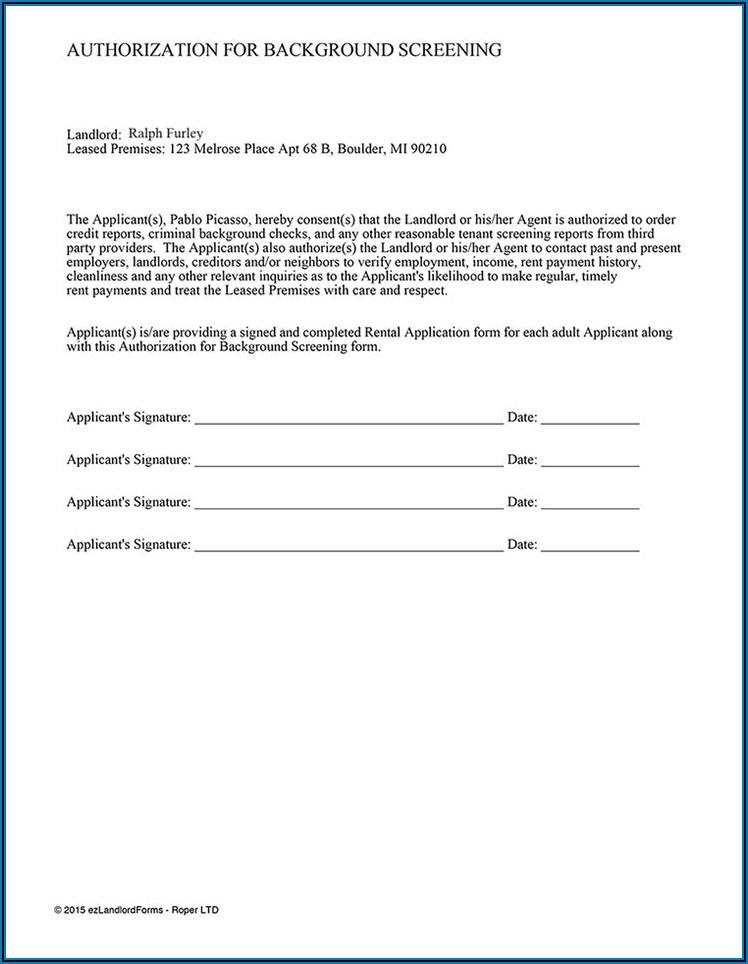 Tenant Screening Authorization Form