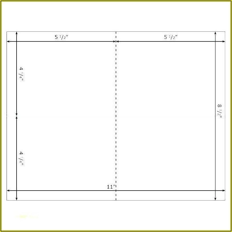 Tent Card Template 6 Per Sheet