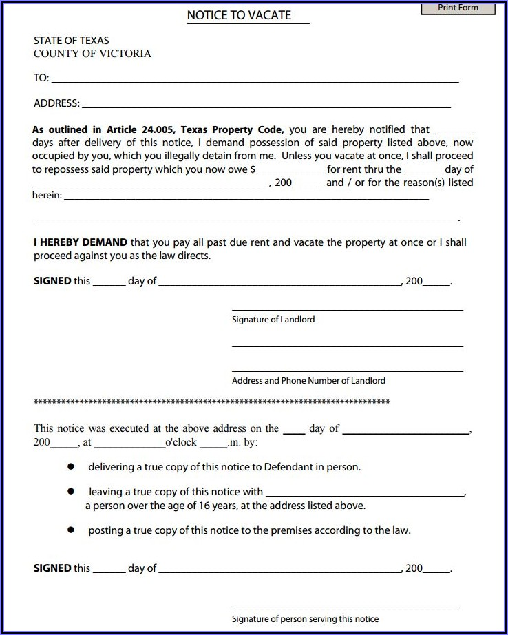 Texas Eviction Forms