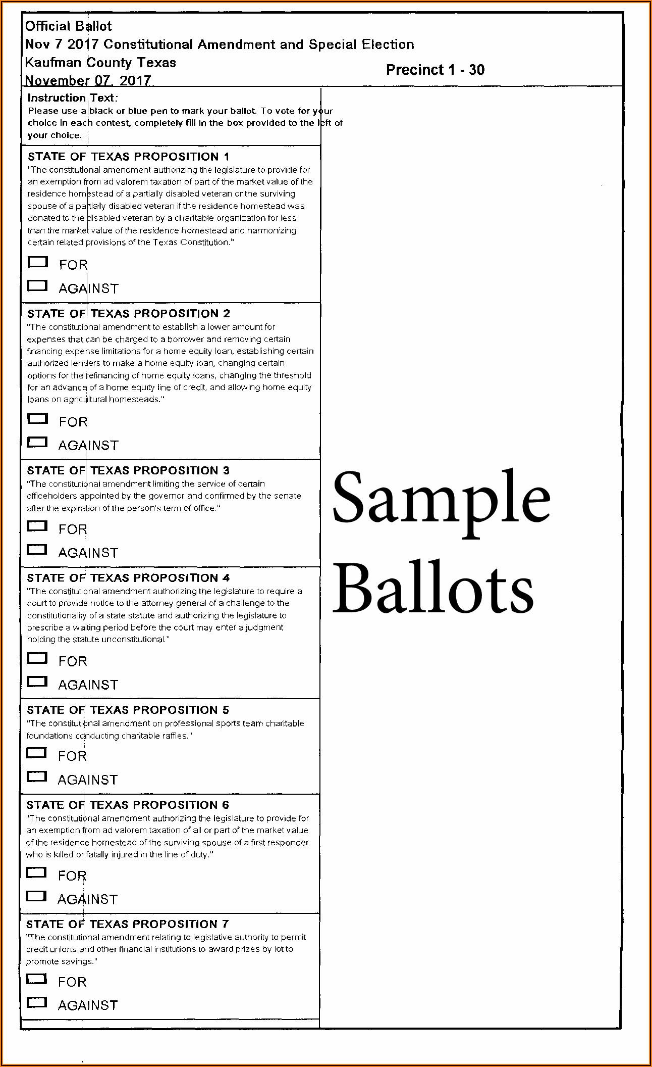 Texas Hoa Proxy Voting Form