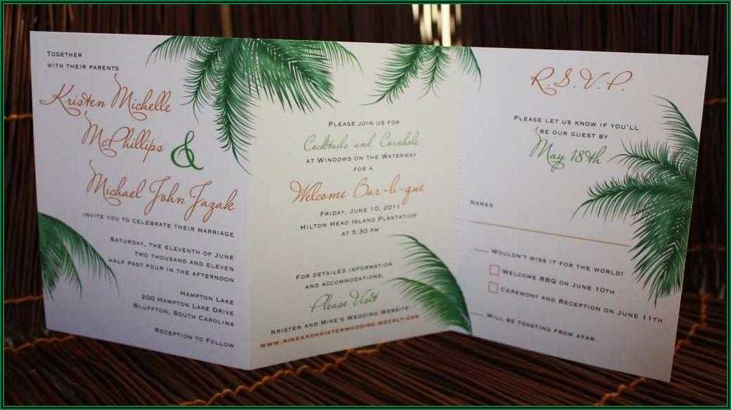 Three Fold Wedding Invitations Template