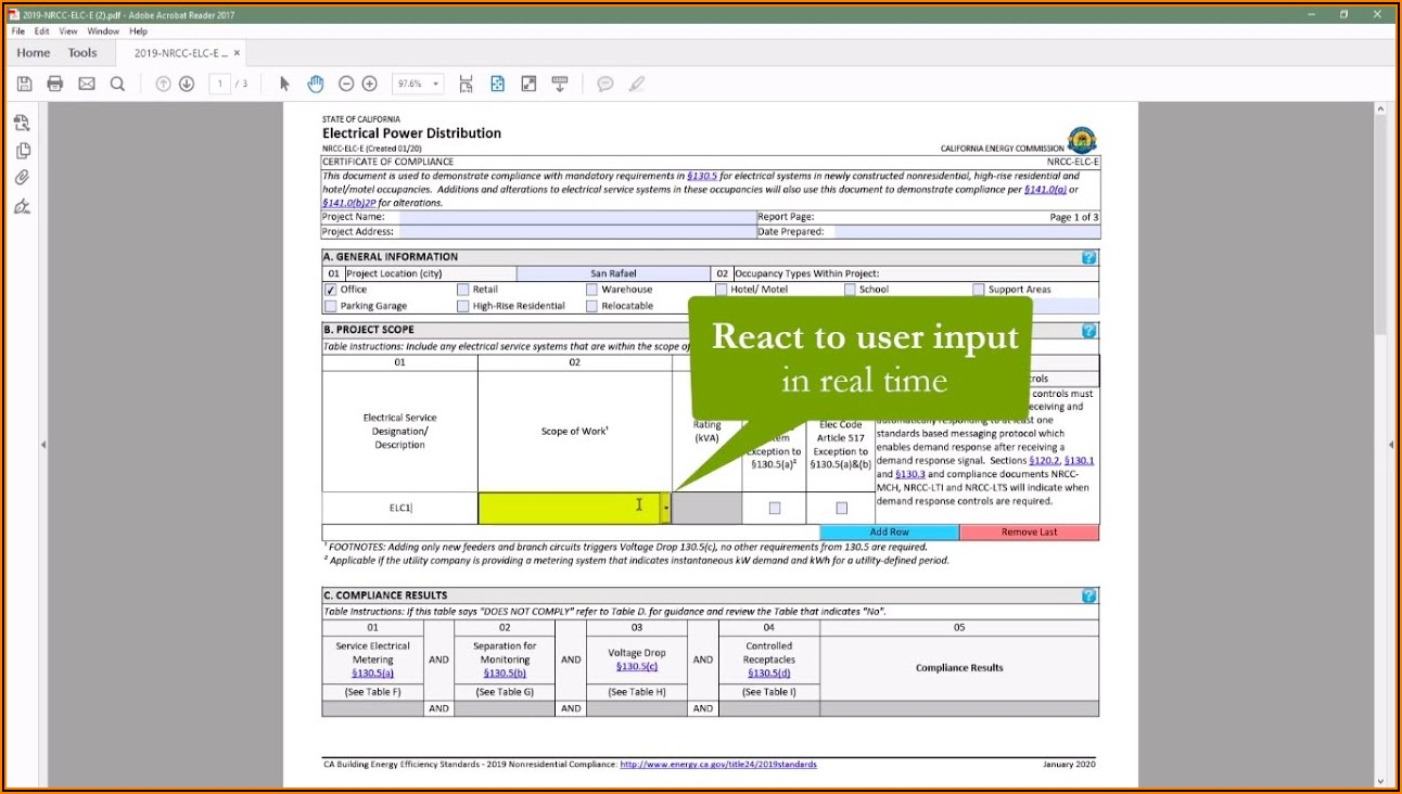 Title 24 Compliance Forms 2019