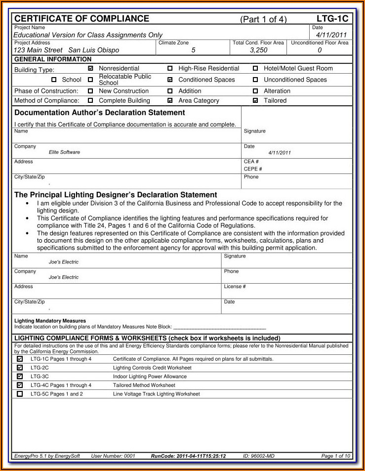 Title 24 Residential Compliance Forms