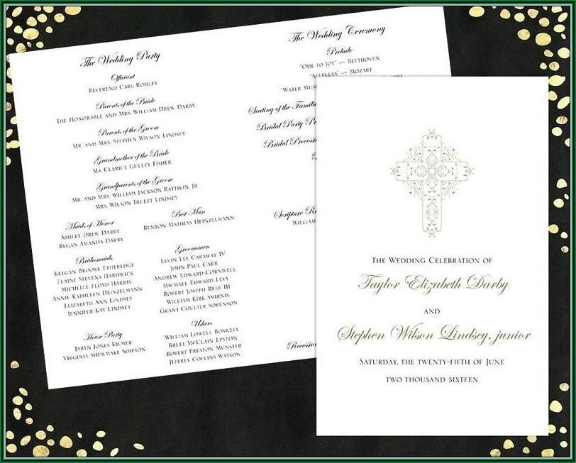 Traditional Wedding Program Templates