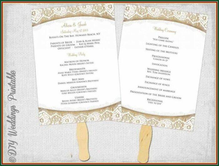 Traditional Wedding Reception Program Examples