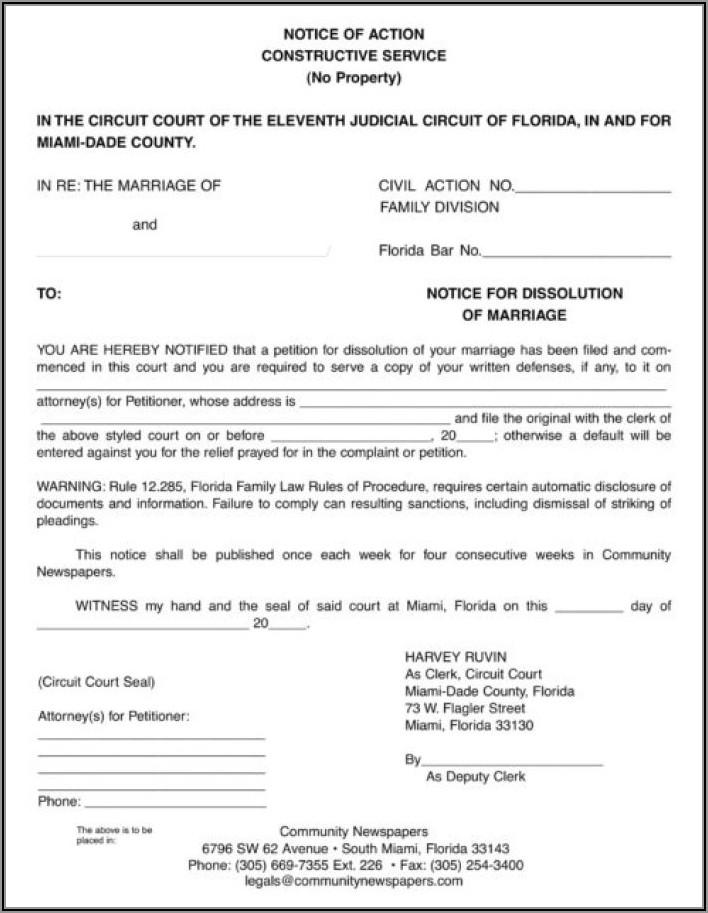 Uncontested Divorce Paperwork Florida