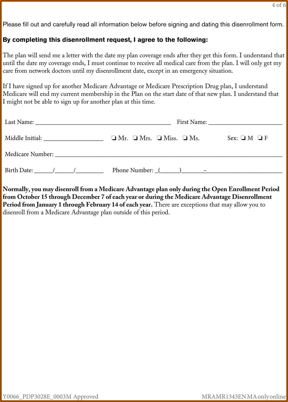 Unitedhealthcare Medicare Disenrollment Form