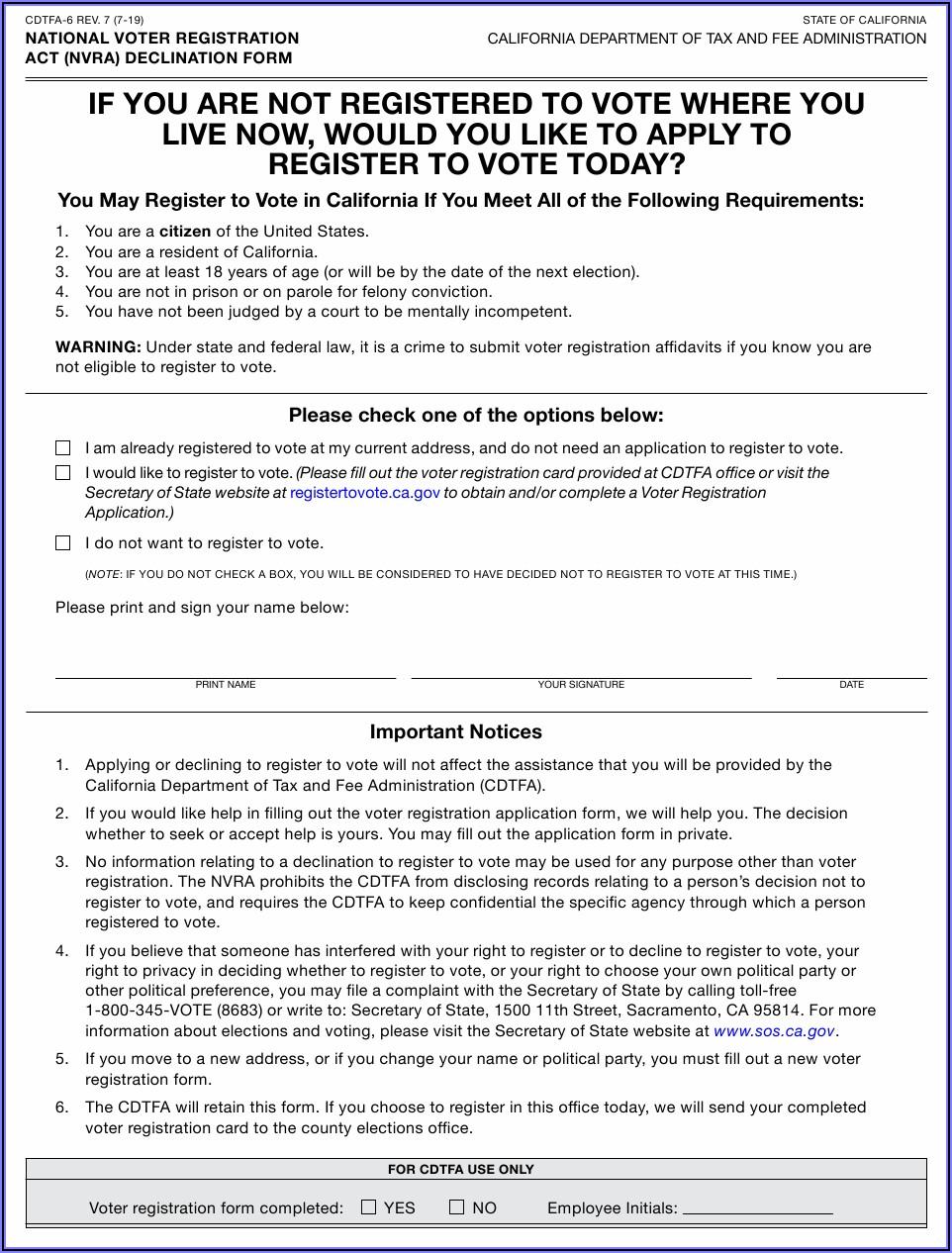 Voter Registration Online Form 6