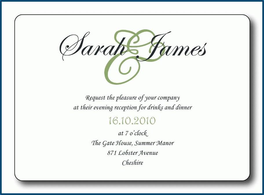 Wedding Reception Invitation Templates Free