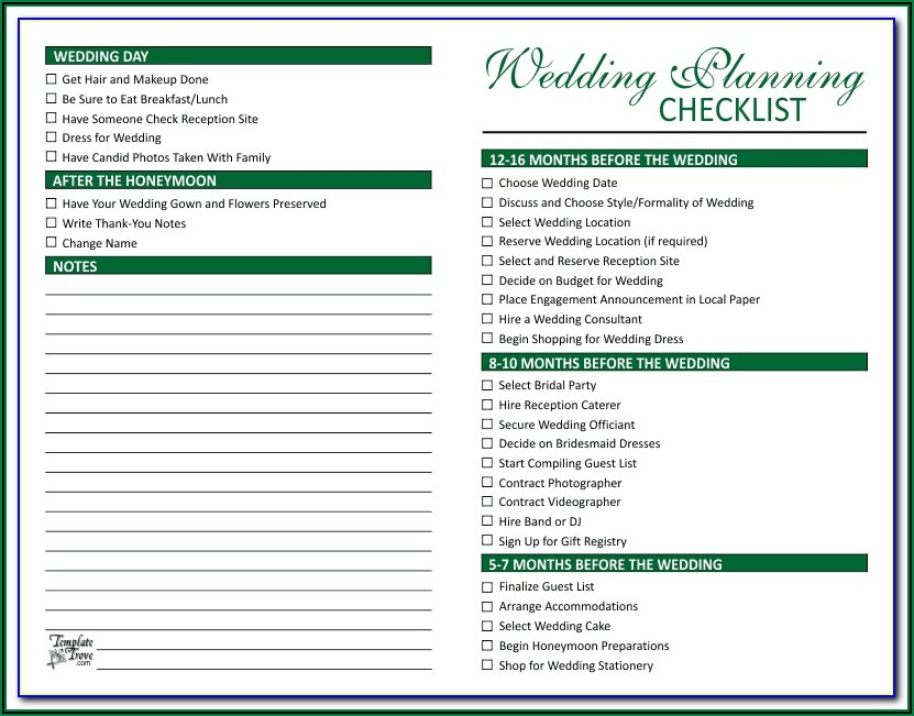 Wedding Reception Table Assignments Template