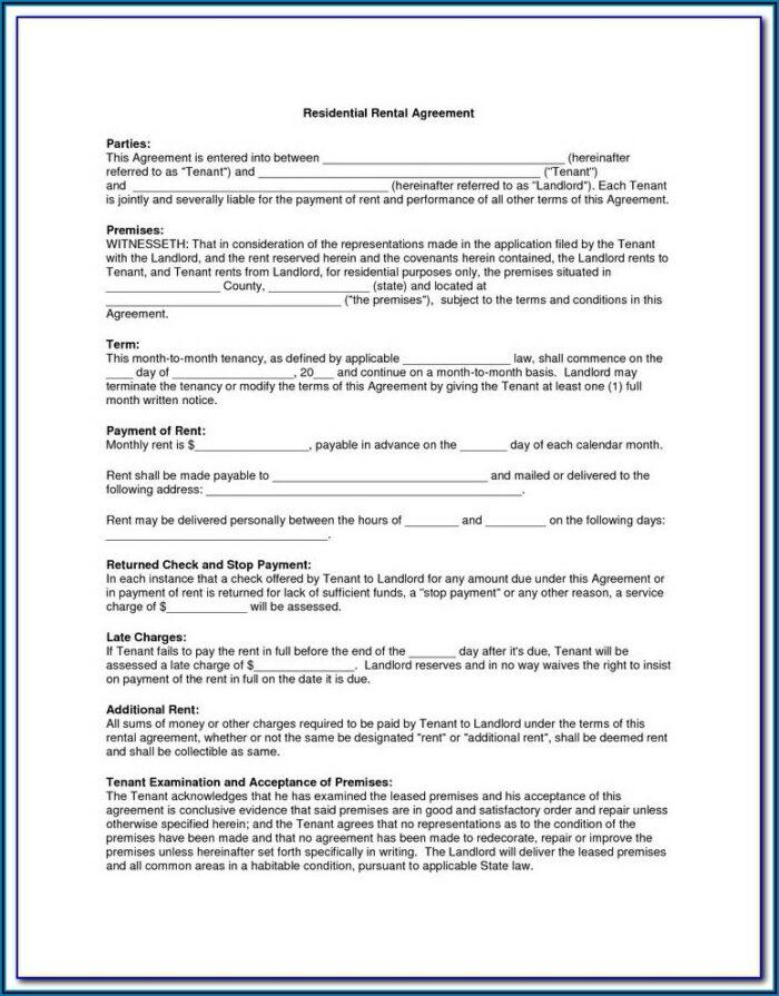 Wedding Rental Agreement Form