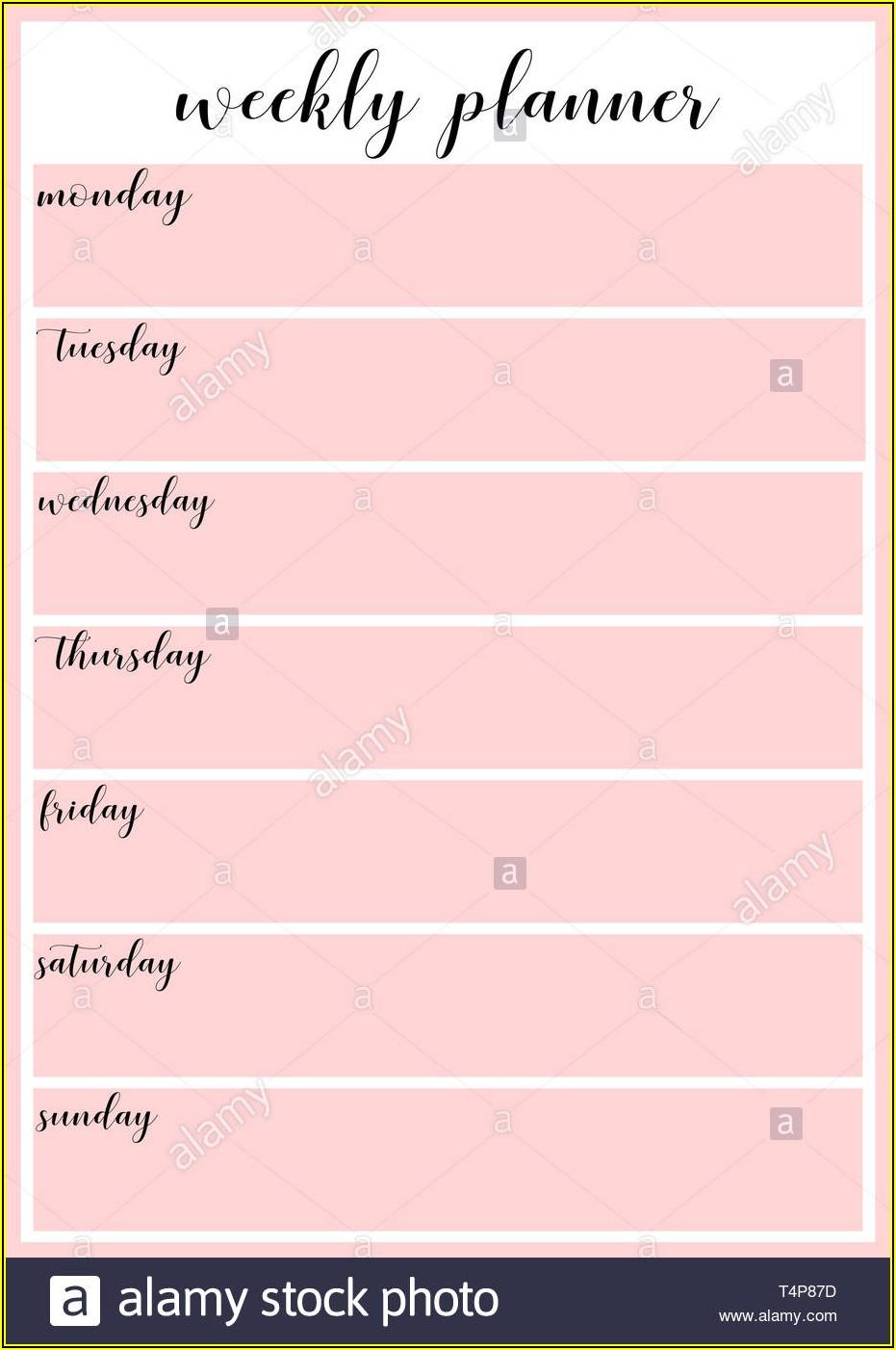 Weekly Schedule Planner Template