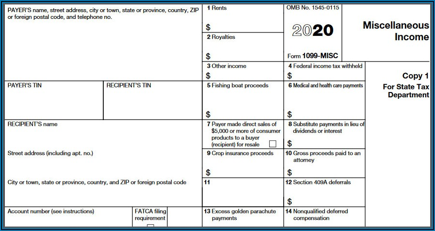 Where To Send 1099 Misc Forms Irs 2020