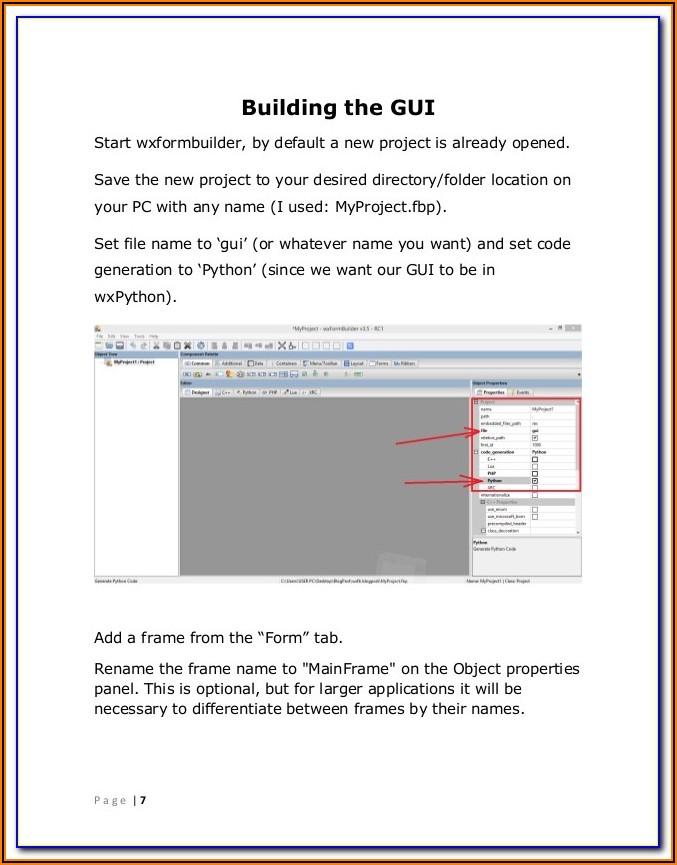 Wxpython Wx Form Builder Example