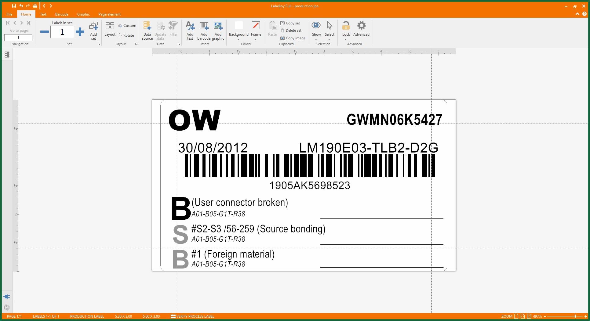 Zebra Printer Label Template Excel