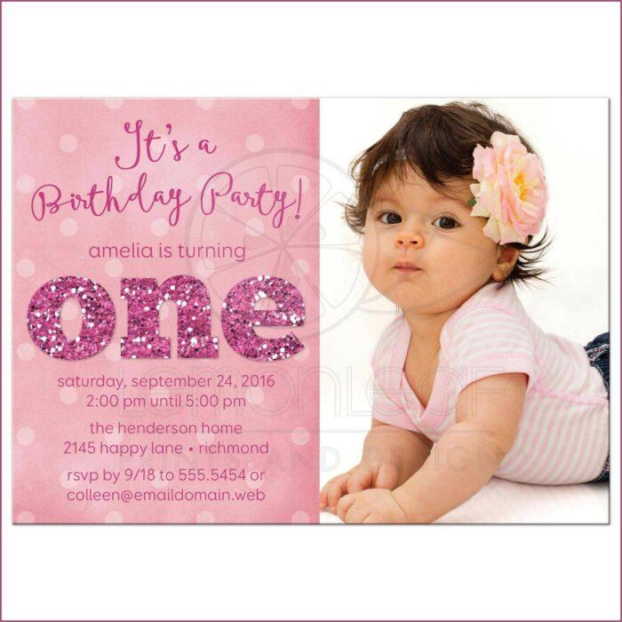 1st Birthday Invitation Background Design