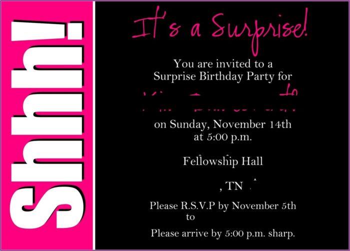 60th Birthday Surprise Party Invitation Wording