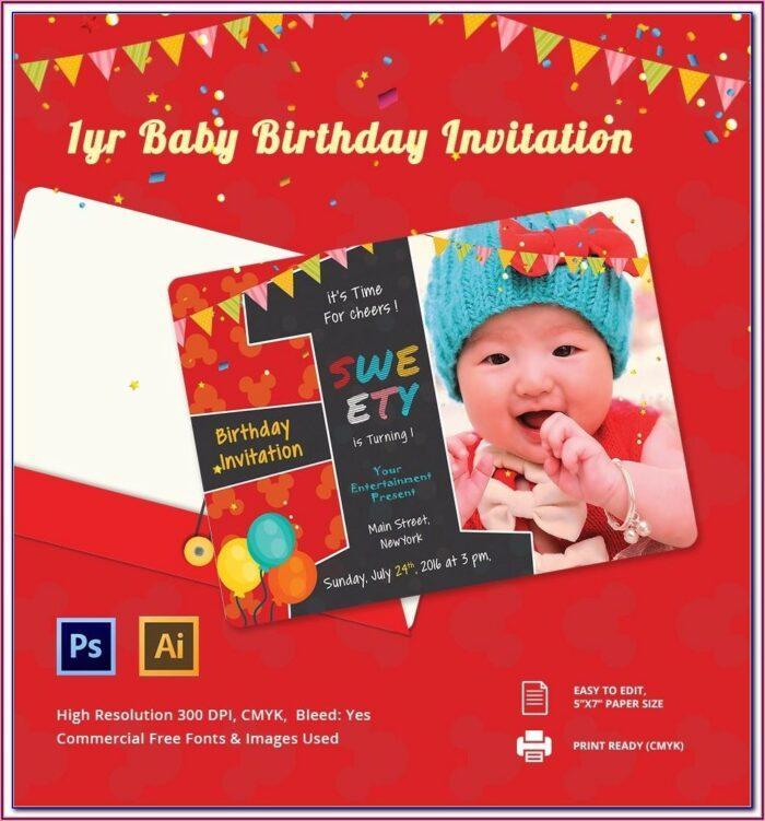 80th Birthday Invitation Card Template