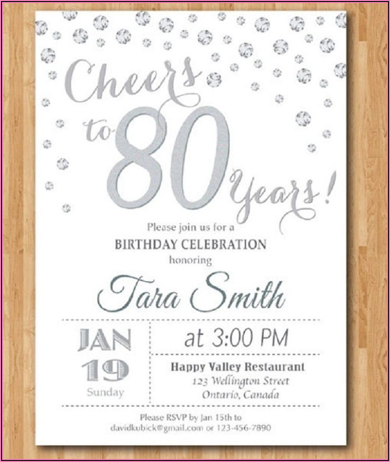 85th Birthday Party Invitations Templates