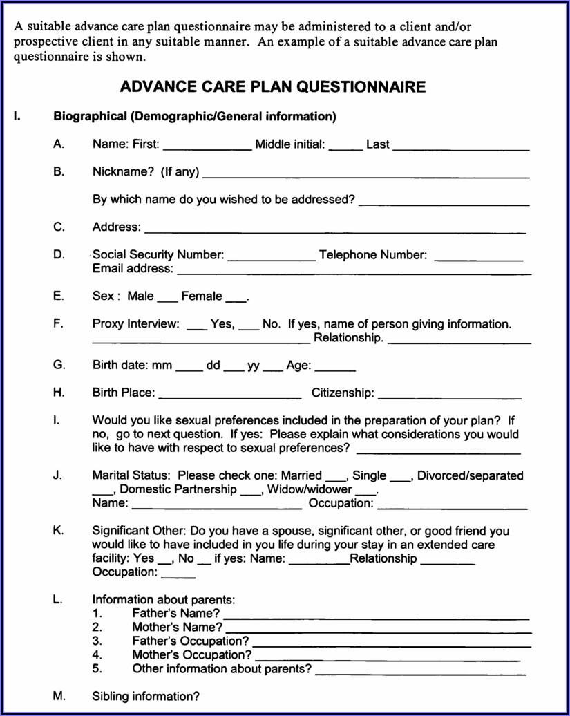 Advance Health Directive Form California