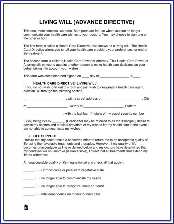 Advance Health Directive Forms Qld