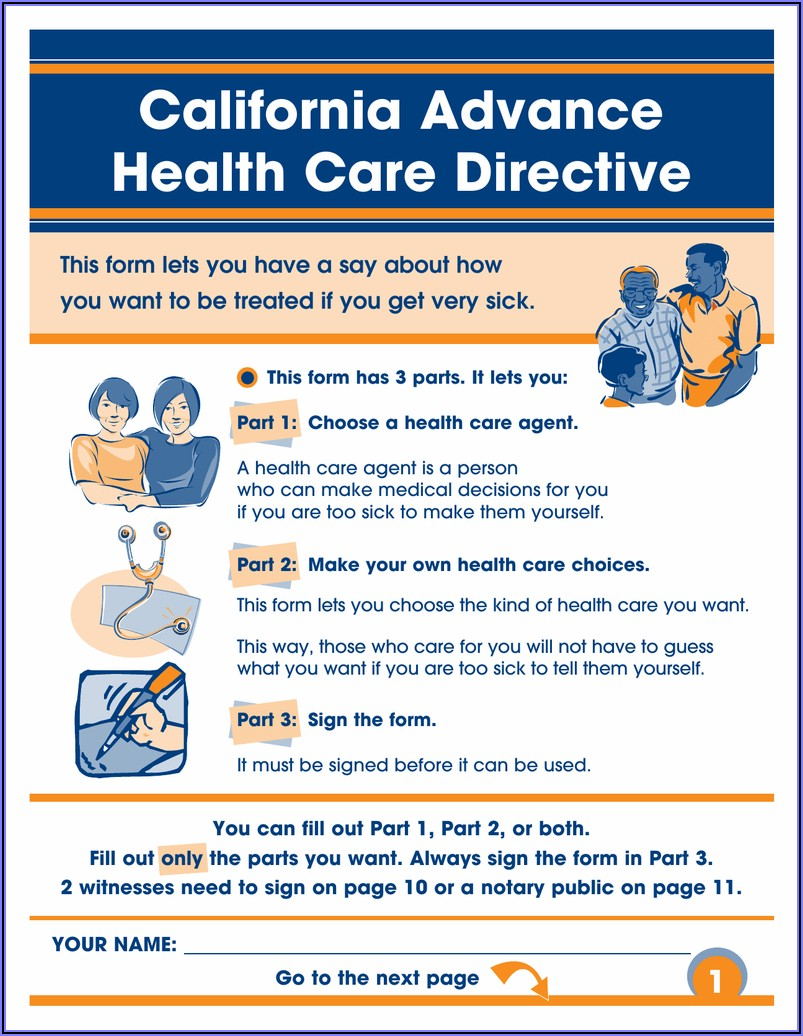 Advance Healthcare Directive Forms California