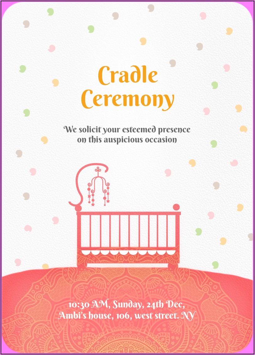 Background Images For Naming Ceremony Invitation