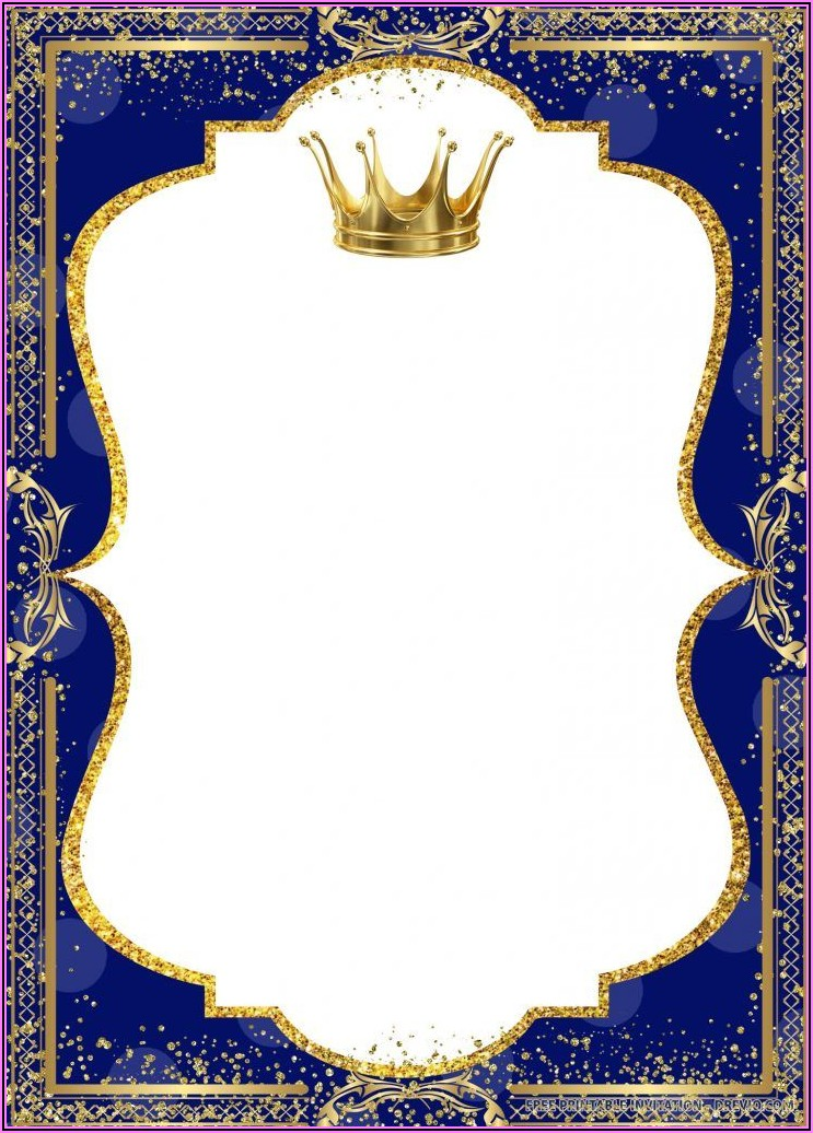 Background Royal Prince Birthday Invitation