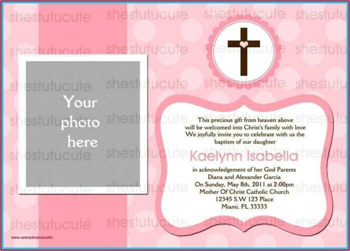 Baptismal Invitation For Baby Girl Layout