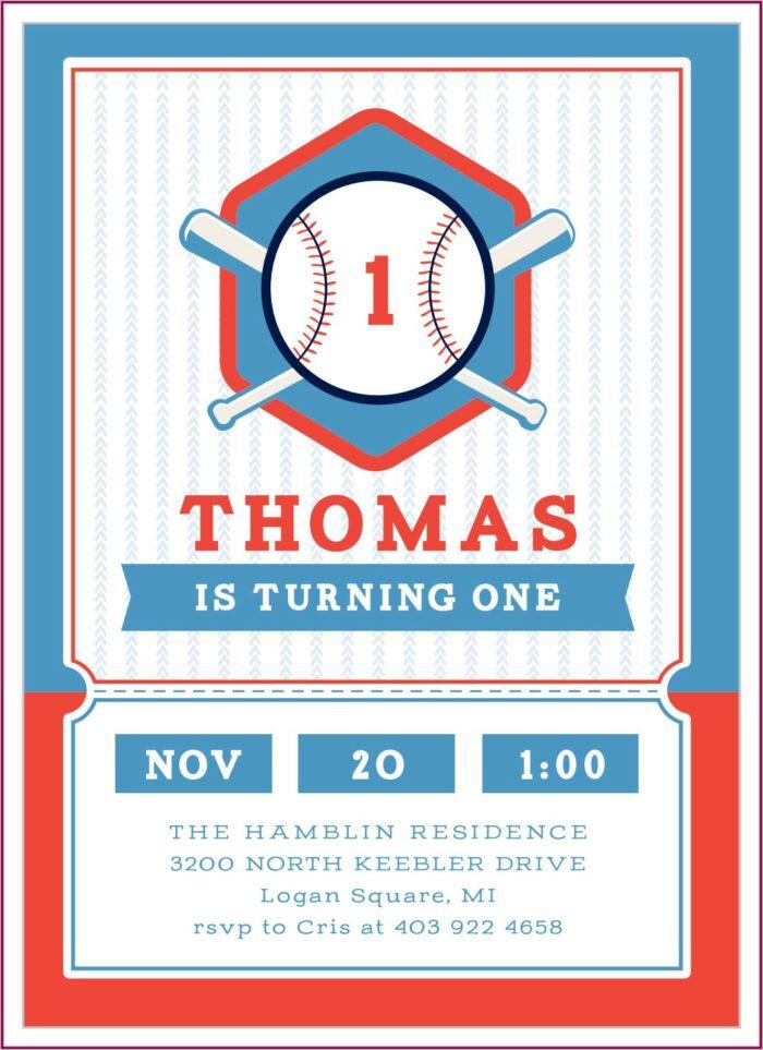 Baseball First Birthday Invitations