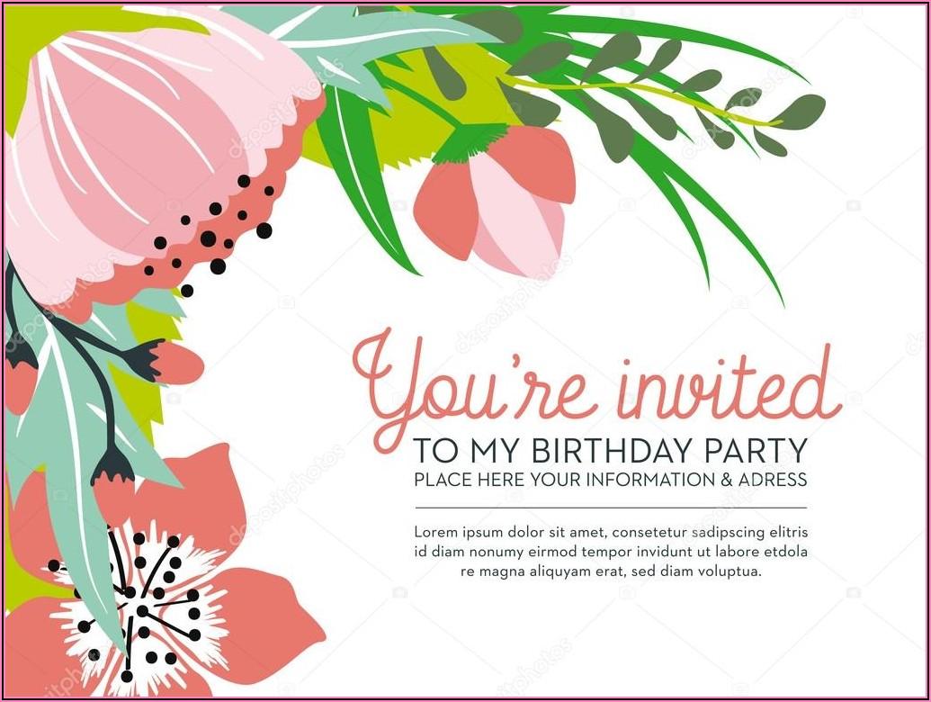 Birthday Invitation Background Design