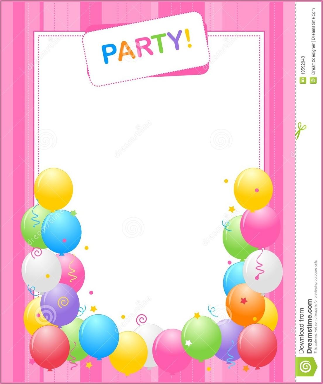 Birthday Invitation Background Pictures