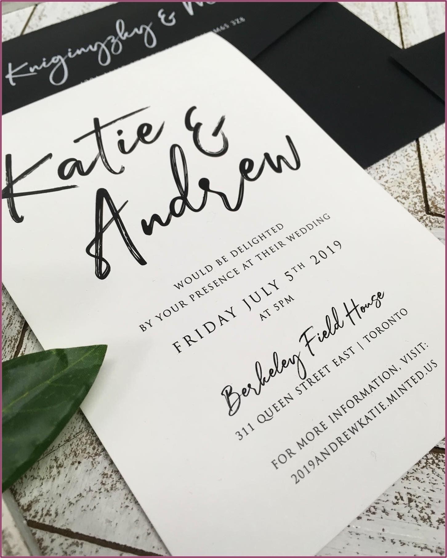 Black And White Modern Wedding Invitations