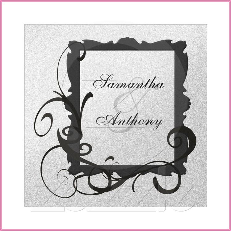 Black White And Silver Wedding Invitations