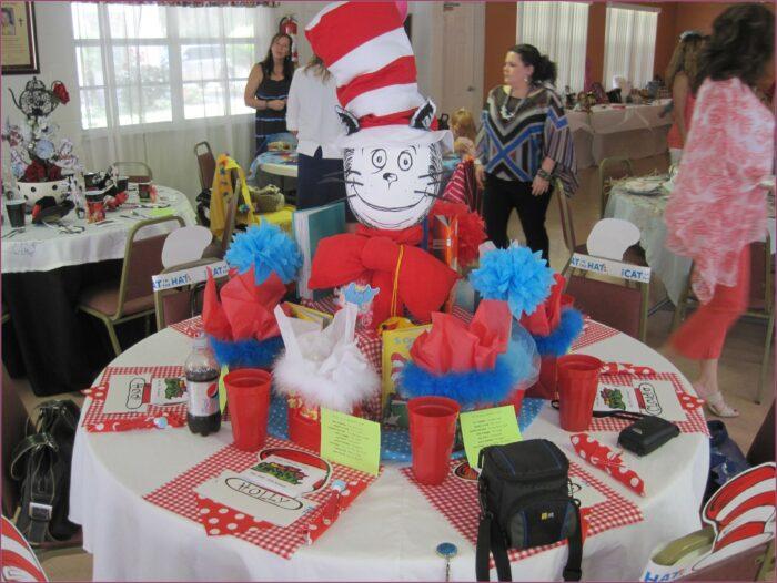Cat In The Hat 1st Birthday Invitations