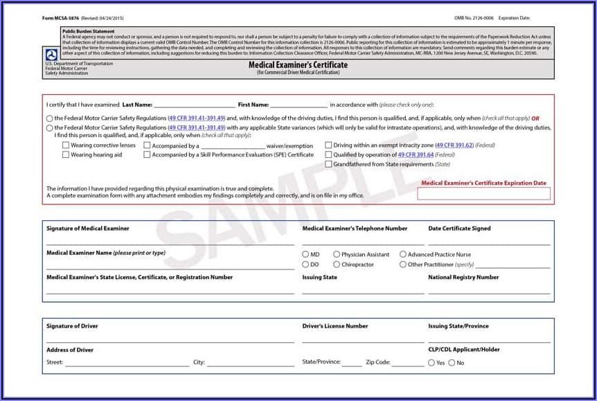 Cdl Medical Exam Application