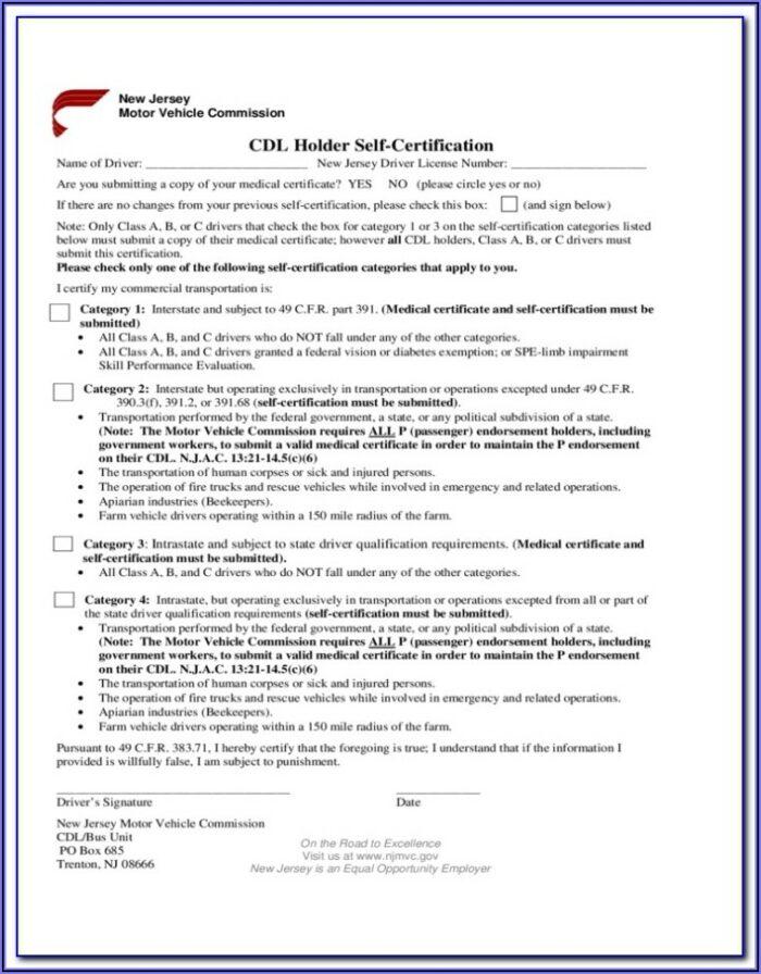 Cdl Medical Exam Form