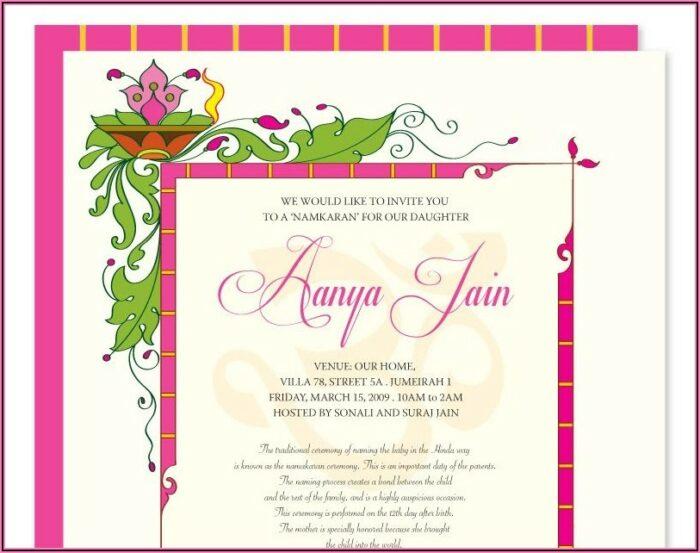 Cradle Ceremony Invitation Card Making