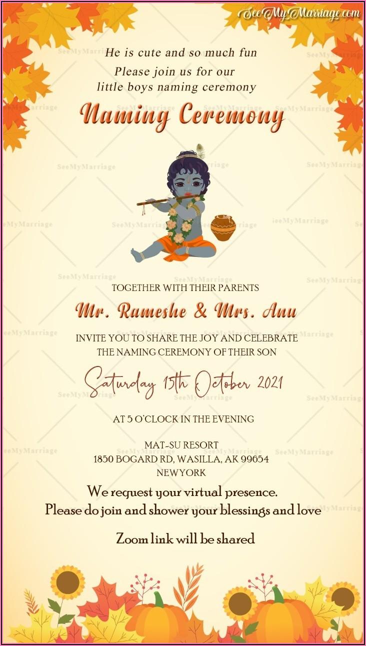 Cradle Ceremony Invitation Message In Telugu